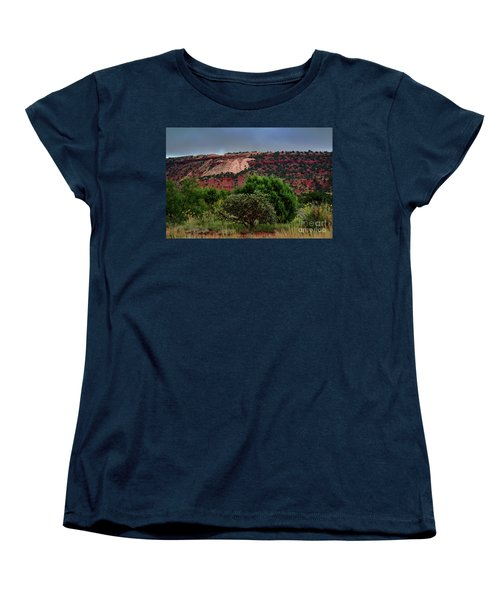 Women's T-Shirt (Standard Cut) featuring the photograph Red Terrain - New Mexico by Diana Mary Sharpton