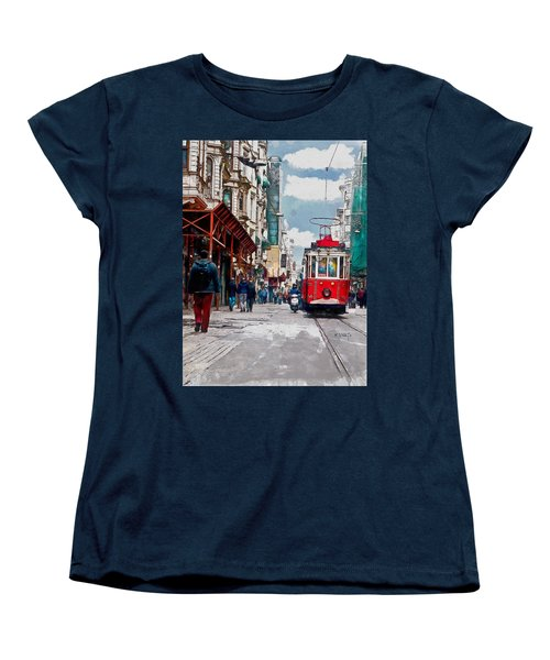 Red Tram Women's T-Shirt (Standard Cut) by Kai Saarto