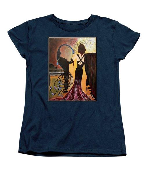 Red Velvet At The Ritz  Women's T-Shirt (Standard Cut) by Jolanta Anna Karolska