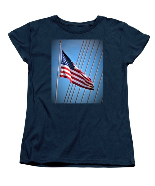 Red, White And Blue Women's T-Shirt (Standard Cut) by Martin Cline
