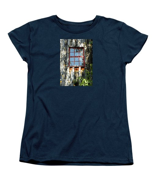 Women's T-Shirt (Standard Cut) featuring the photograph The Red Window by Sandi OReilly