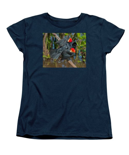 Red-winged Blackbird Women's T-Shirt (Standard Cut) by Suzanne Stout