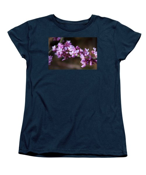 Women's T-Shirt (Standard Cut) featuring the photograph Redbuds In March by Jeff Severson