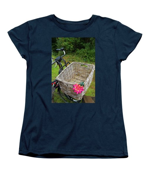 Reed Bicycle Basket Women's T-Shirt (Standard Cut) by Hans Engbers