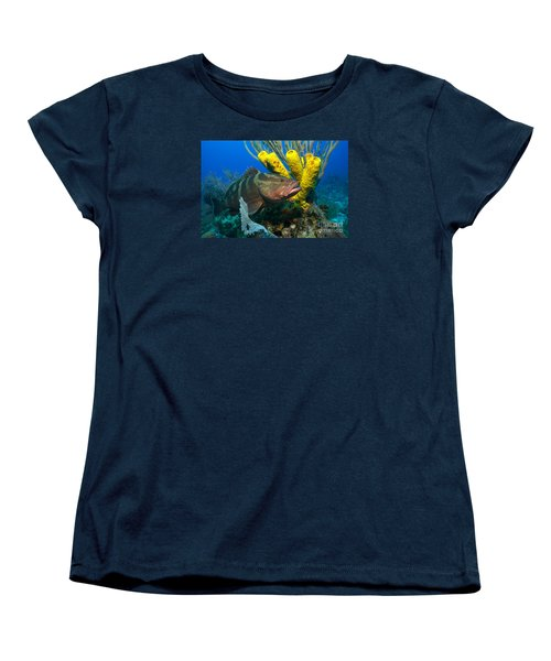 Women's T-Shirt (Standard Cut) featuring the photograph Reef Denizon by Aaron Whittemore