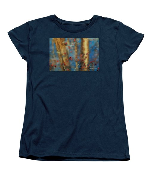 Reflecting Gold Tones Women's T-Shirt (Standard Cut) by Elizabeth Dow
