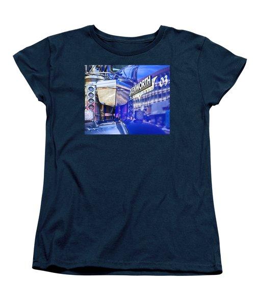 Reflecting On A Kenworth Women's T-Shirt (Standard Cut) by Theresa Tahara