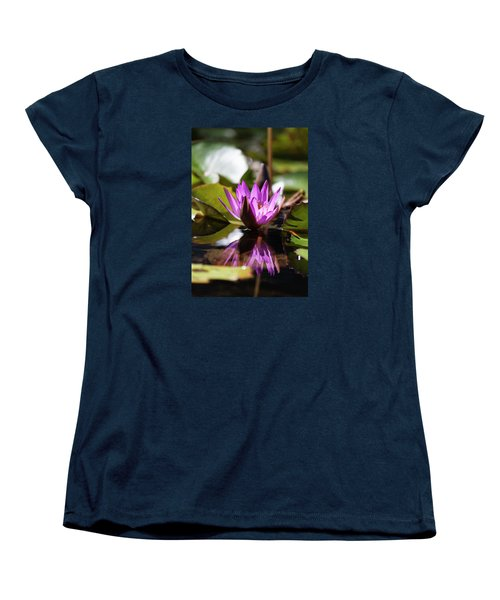 Women's T-Shirt (Standard Cut) featuring the photograph Reflection In Fuchsia by Suzanne Gaff