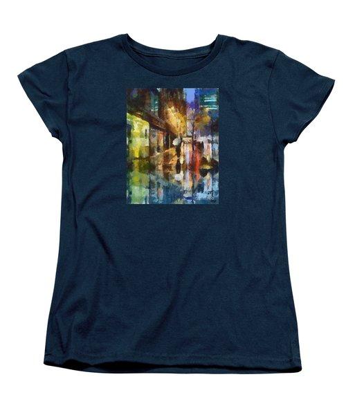 Reflection In The Rain Women's T-Shirt (Standard Cut) by Dragica  Micki Fortuna