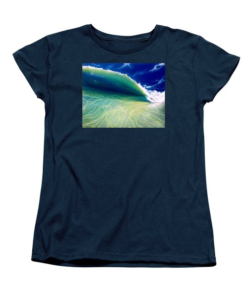 Women's T-Shirt (Standard Cut) featuring the painting Reflections by Dawn Harrell