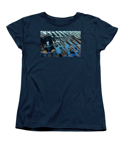 Women's T-Shirt (Standard Cut) featuring the photograph Reflections From A Dock by Debbie Oppermann