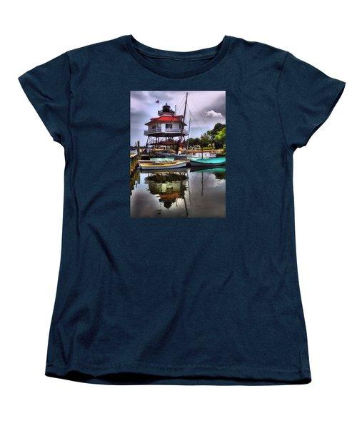 Reflections On Golden Creek Women's T-Shirt (Standard Cut) by Robert McCubbin
