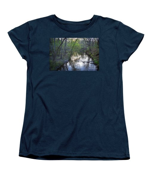 Women's T-Shirt (Standard Cut) featuring the photograph Reflections On The Congaree Creek by Skip Willits