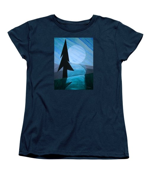 Women's T-Shirt (Standard Cut) featuring the painting Reflections On The Day by J R Seymour