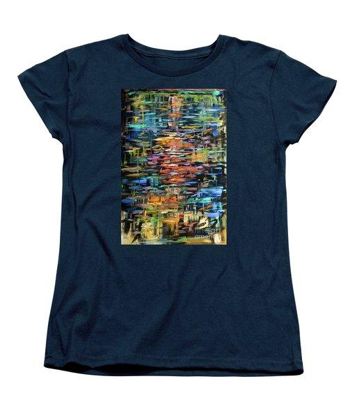 Reflections Rain Women's T-Shirt (Standard Cut) by Linda Olsen