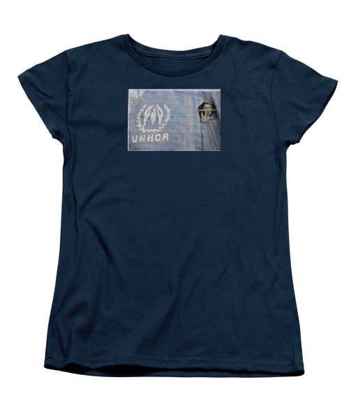Refugees Syria Women's T-Shirt (Standard Cut) by Vikram Singh