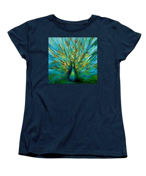 Regal Peacock Women's T-Shirt (Standard Cut) by Dina Dargo