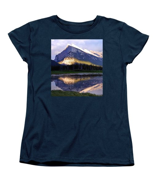Mount Rundle Women's T-Shirt (Standard Cut) by Heather Vopni