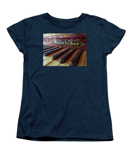 Women's T-Shirt (Standard Cut) featuring the photograph Registered Key Board by Linda Unger