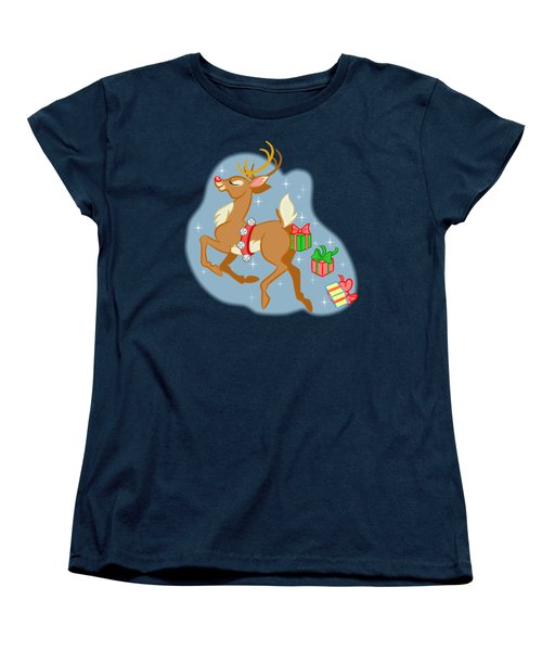 Women's T-Shirt (Standard Cut) featuring the digital art Reindeer Gifts by J L Meadows
