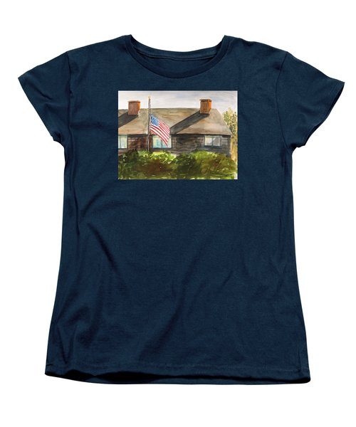Women's T-Shirt (Standard Cut) featuring the painting Remembering Patriot Day by John Williams