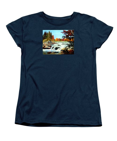 Remembering The Little Broad River Women's T-Shirt (Standard Cut) by Jim Phillips