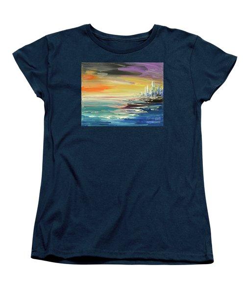 Women's T-Shirt (Standard Cut) featuring the painting Remote Harmonies by Tatiana Iliina