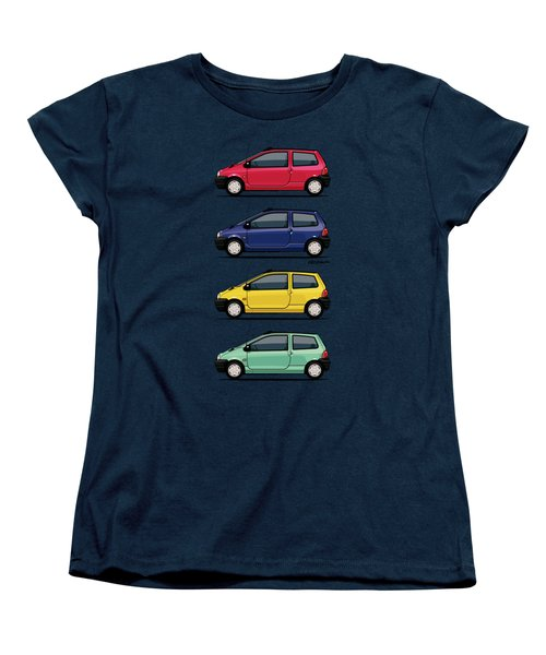 Renault Twingo 90s Colors Quartet Women's T-Shirt (Standard Cut) by Monkey Crisis On Mars