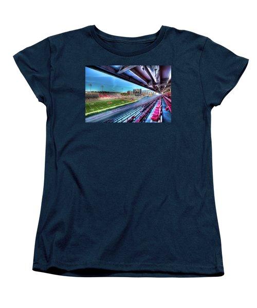 Renovated Martin Stadium Women's T-Shirt (Standard Cut) by David Patterson