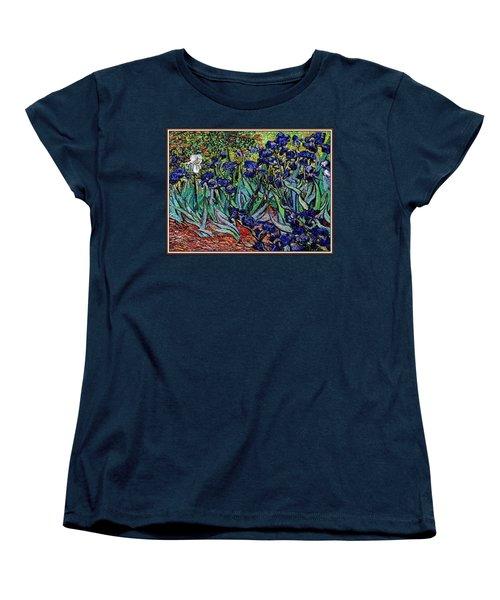 Women's T-Shirt (Standard Cut) featuring the digital art replica of Van Gogh irises by Pemaro