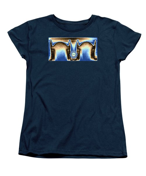 Women's T-Shirt (Standard Cut) featuring the mixed media Reserved by Will Borden
