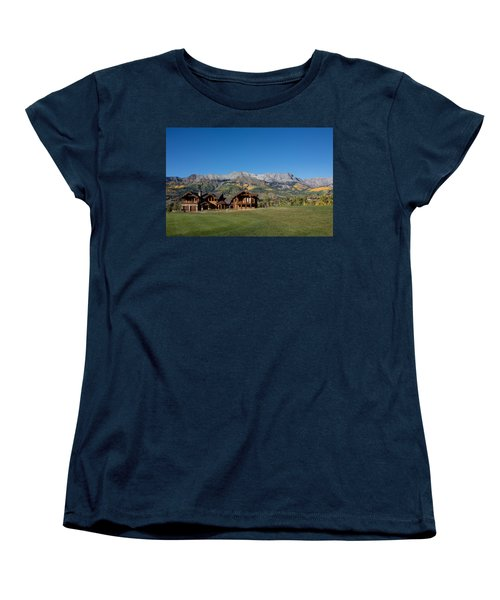 Residences In Mountain Village -- A Planned Community Adjacent To Telluride Women's T-Shirt (Standard Cut) by Carol M Highsmith