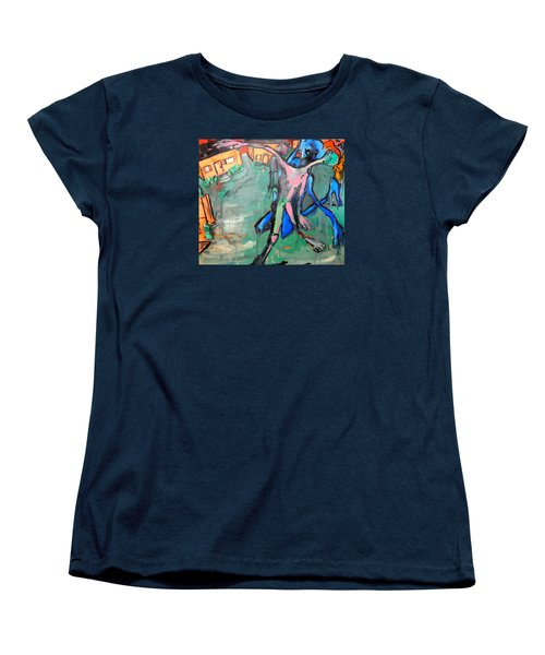 Women's T-Shirt (Standard Cut) featuring the painting Residential Sweep by Kenneth Agnello