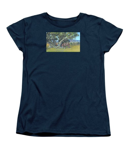 Resting Cowboy Painting A Study Women's T-Shirt (Standard Cut) by  Luczay
