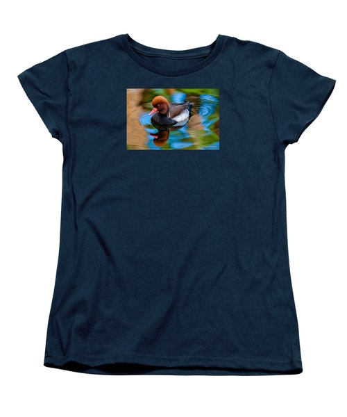 Resting In Pool Of Colors Women's T-Shirt (Standard Cut) by Christopher Holmes