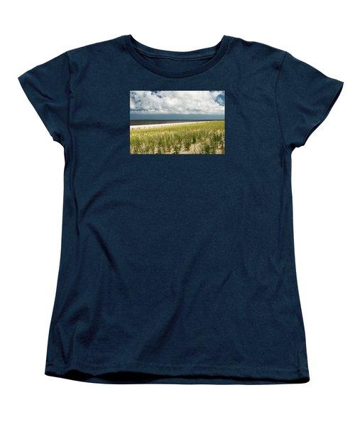 Restoring The Sand Dunes Women's T-Shirt (Standard Cut) by Gary Slawsky