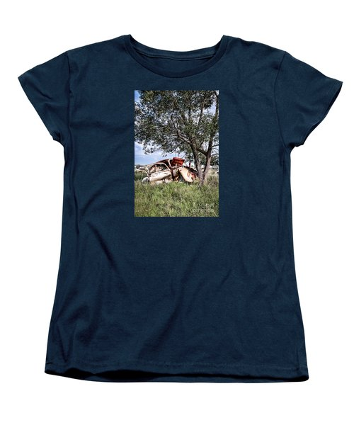 Women's T-Shirt (Standard Cut) featuring the photograph Retired Bug by Lawrence Burry