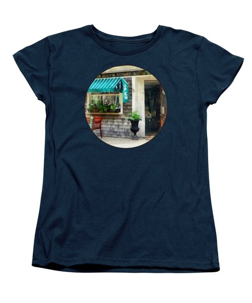 Rhode Island - Antique Shop Newport Ri Women's T-Shirt (Standard Cut) by Susan Savad