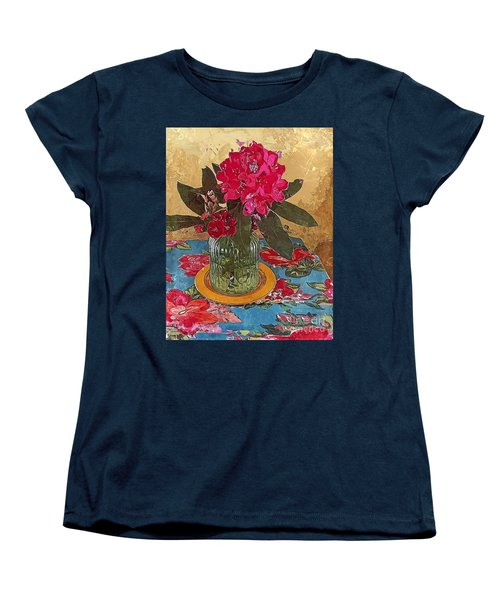 Rhododendron Women's T-Shirt (Standard Cut) by Alexis Rotella