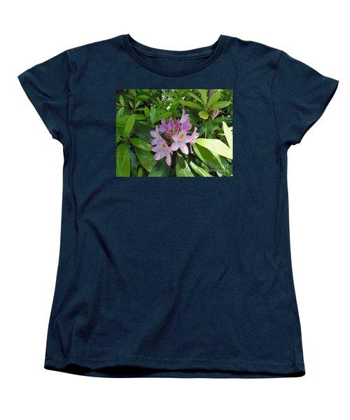 Rhododendron Women's T-Shirt (Standard Cut) by Daun Soden-Greene