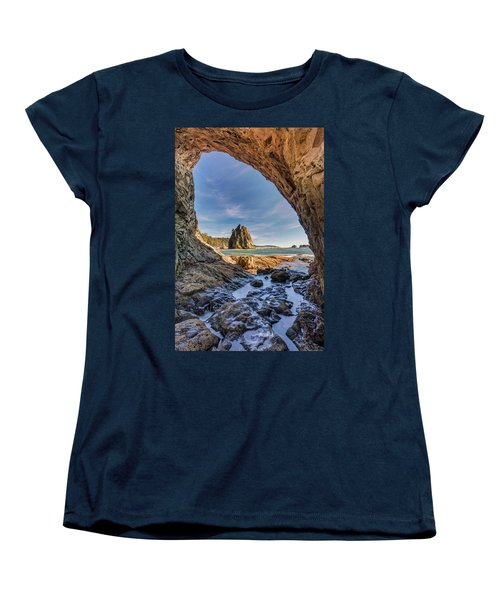 Women's T-Shirt (Standard Cut) featuring the photograph Rialto Beach Sea Arch by Pierre Leclerc Photography
