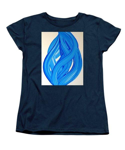 Ribbons Of Love-blue Women's T-Shirt (Standard Cut)