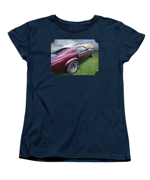 Rich Cherry - '69 Mustang Women's T-Shirt (Standard Cut) by Gill Billington
