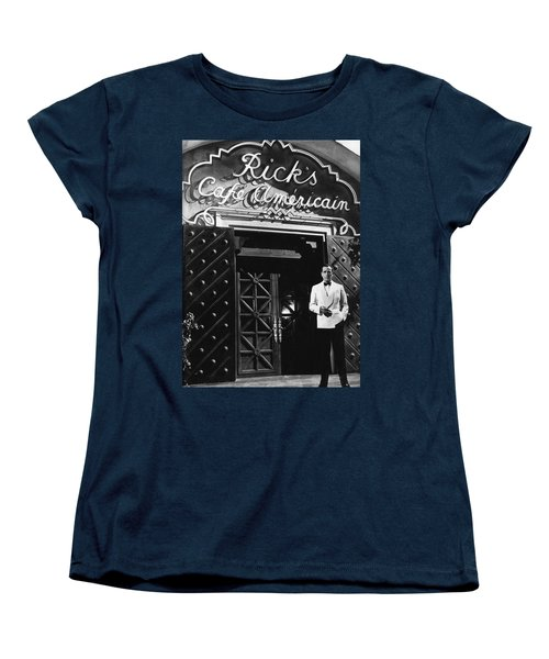 Ricks Cafe Americain Casablanca 1942 Women's T-Shirt (Standard Cut) by David Lee Guss