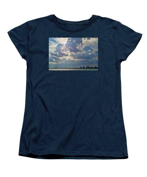 Riding In The Storm Women's T-Shirt (Standard Cut) by Camille Lopez