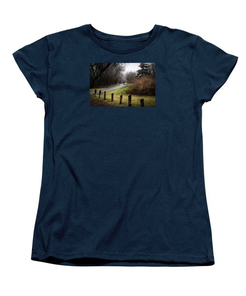 Riding Into The Fog Women's T-Shirt (Standard Cut) by Celso Bressan