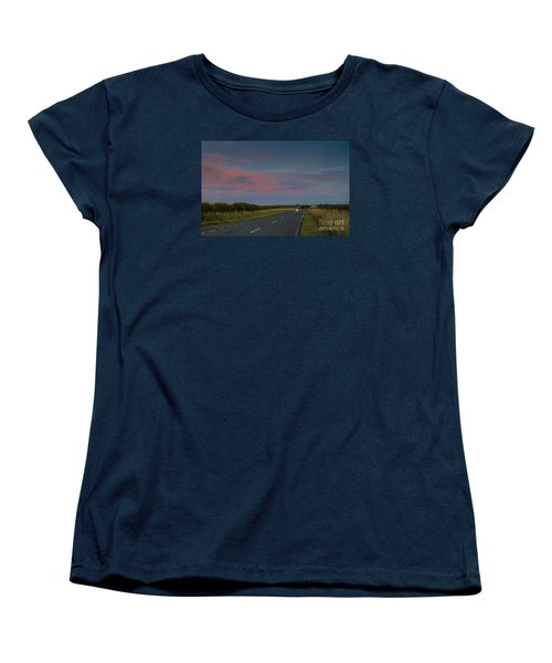 Riding Into The Sunset Women's T-Shirt (Standard Cut) by David  Hollingworth