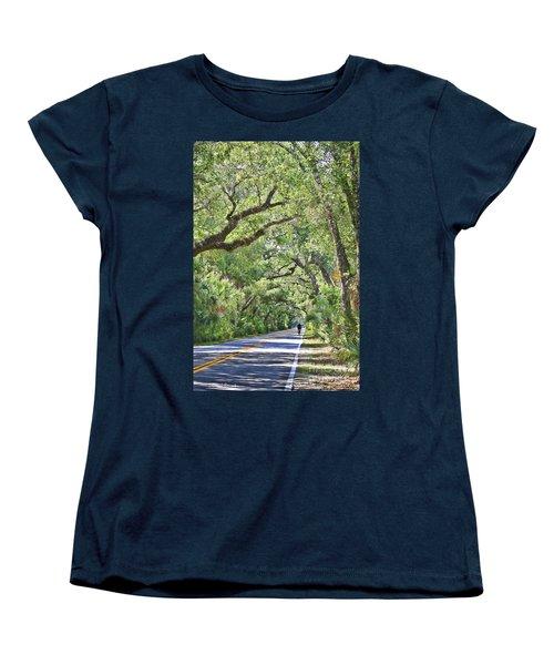 Riding The Ormond Loop Women's T-Shirt (Standard Cut) by Deborah Benoit