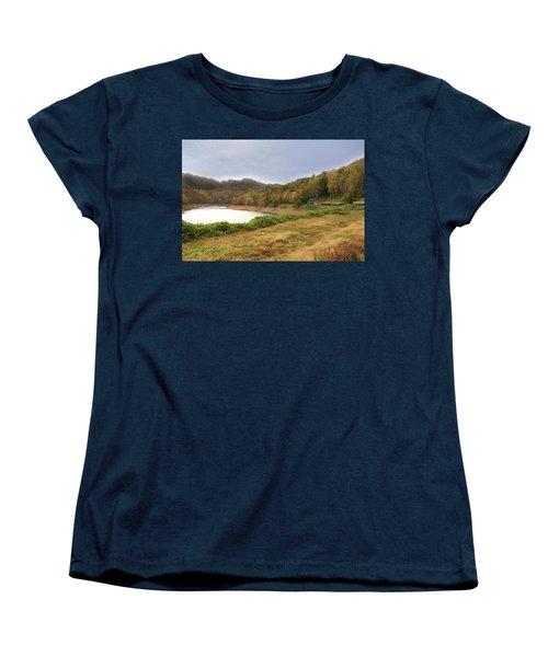 Women's T-Shirt (Standard Cut) featuring the digital art Riding The Rails by Sharon Batdorf