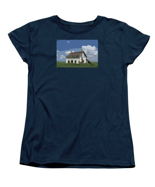 Riel Period Homestead Women's T-Shirt (Standard Cut) by Ellery Russell
